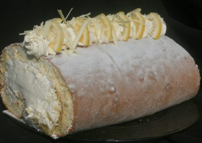 Lemon & White Chocolate Roulade